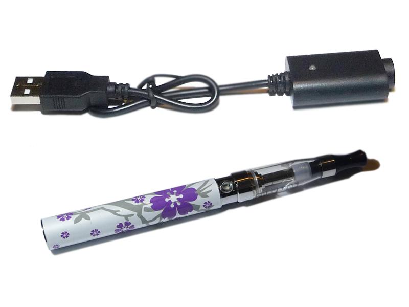 E-cigareta Queen 1100 mAh Fialový květ - s adaptérem