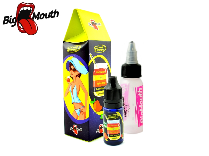 Big Mouth Smooth Summer - Mango a citronáda (Lemonade, Forest Blueberry, tropical Mango, Lime, Wild Strawberry) - 10ml