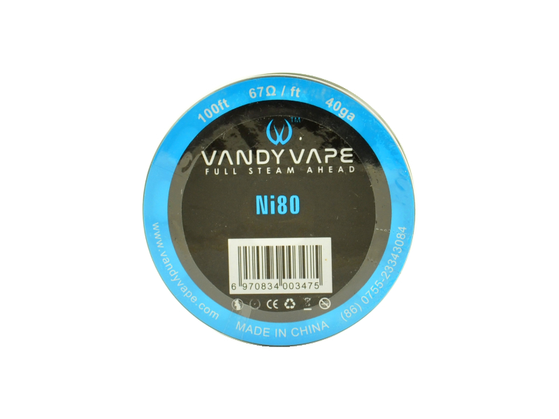 Vandy Vape Single Wire Ni80 40GA 30m